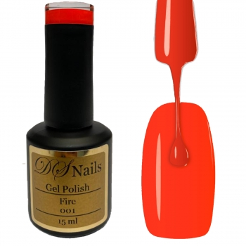 001 Fire Soak off Gel Polish 15ml