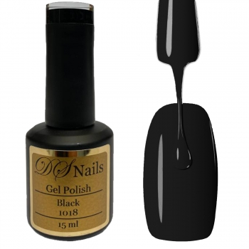 1018 Black Soak off Gel Polish 15ml