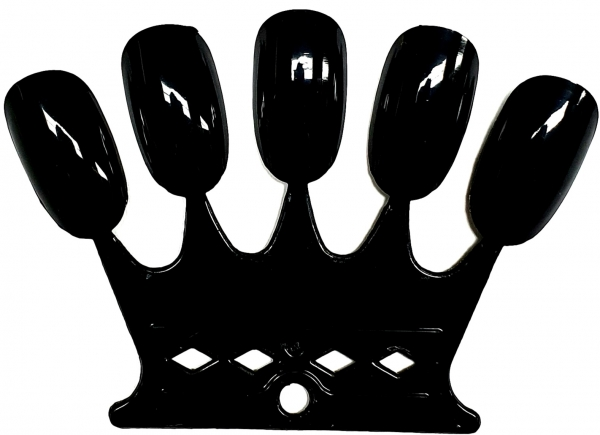 50tips Nail Color Farbdisplay. 10 Crown Black